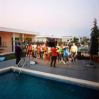 Kuduru/Kuduro musician Cabo Snoop and others during the shooting of his last video. .