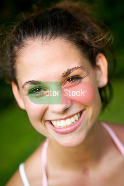 smiling, attractive young woman