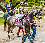 OCT11, 2020 : County Final in the Grade 3 Futruity Stakes, for 2-year olds on the turf, at Belmont Park, Elmont, NY.  Sue Kawczynski/Eclipse Sportswire/CSM