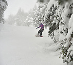 Fresh powder and empty slopes during President's week at Burke Mountain Vermont