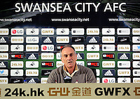 Head coach Francesco Guidolin during the Swansea City FC press conference at the Liberty Stadium, Swansea on Thursday, January 28 2016
