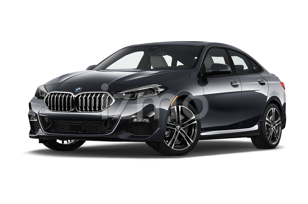 Stock pictures of low aggressive front three quarter view of 2020 BMW 2-Series M-Sport 4 Door Sedan Low Aggressive