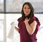 Designer Olivia Osborne speaks during Reno Magazine's Home Decor Workshop at Aspen Leaf Interiors Studio in Reno on Saturday, March 24, 2018.