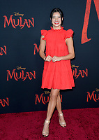 """LOS ANGELES, CA: 09, 2020: Peyton Elizabeth Lee  at the world premiere of Disney's """"Mulan"""" at the El Capitan Theatre.<br /> Picture: Paul Smith/Featureflash"""