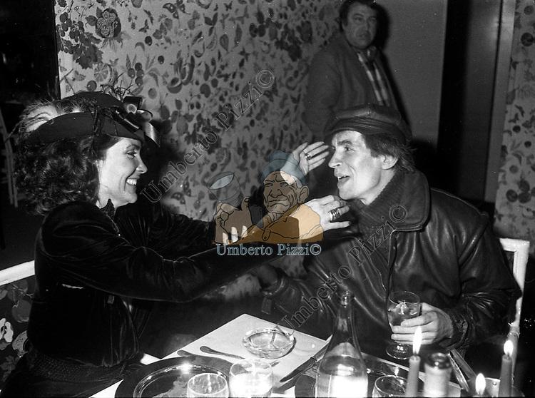 MARINA RIPA DI MEANA CON RUDOLPH NUREYEV<br /> BELLA BLU ROMA 1985