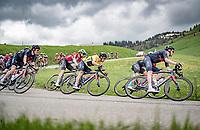 yellow jersey / GC leader Richie Porte (AUS/Ineos Grenadiers) coming down the Col des Aravis (2Cat/1498m/6.7km@7%)<br /> <br /> 73rd Critérium du Dauphiné 2021 (2.UWT)<br /> Stage 8 (Final) from La Léchère-Les-Bains to Les Gets (147km)<br /> <br /> ©kramon
