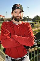 Feb 25, 2010; Kissimmee, FL, USA; The Houston Astros pitcher Tim Byrdak (19) during photoday at Osceola County Stadium. Mandatory Credit: Tomasso De Rosa/ Four Seam Images
