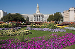 Denver County Courthouse and Civic Center Park gardens, Denver, Colorado. John offers private photo tours of Denver, Boulder and Rocky Mountain National Park. Year-round.