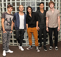"MIAMI - JANUARY 19: ( EXCLUSIVE COVERAGE) (L-R) Nathan Sykes, Max George, Tom Parker, Jay McGuiness and Siva Kaneswaran of The Wanted pose for a portrait.  The Wanted are a British and Irish boy band based in London, England. The band consists of Max George, Siva Kaneswaran, Jay McGuiness, Tom Parker and Nathan Sykes. Their debut single, ""All Time Low"", was released in July 2010 and reached number one in the United Kingdom for one week.Their debut studio album, The Wanted, was released on 25 October 2010 and peaked at number four in the United Kingdom. The first single from their second album, ""Gold Forever"", was released in aid of ""Comic Relief"" and reached number three on the UK Singles Chart. The band's second number one hit, ""Glad You Came"", topped the singles chart in the United Kingdom for two weeks, and in Ireland for five weeks. Their second studio album, Battleground, was released on 7 November 2011. on January 19, 2012 in Miami, Florida.<br /> <br /> <br /> People:  Nathan Sykes_Max George_Tom Parker_Jay McGuiness_Siva Kaneswaran<br /> <br /> Transmission Ref:  MNC<br /> <br /> Must call if interested<br /> Michael Storms<br /> Storms Media Group Inc.<br /> 305-632-3400 - Cell<br /> 305-513-5783 - Fax<br /> MikeStorm@aol.com"