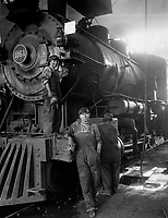 Women taking place of men on Great Northern Railway at Great Falls, Montana, ca.  1918.  Great Falls Commercial Club.  (War Dept.)<br /> Exact Date Shot Unknown<br /> NARA FILE #:  165-WW-595D-14<br /> WAR & CONFLICT BOOK #:  543