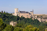 Alcazar from NE, 19th C built on medieval ruins, Segovia, Spain