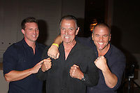 "LOS ANGELES - AUG 15:  Steve Burton, Eric Braeden, Sean Carrigan at the ""The Young and The Restless"" Fan Club Event at the Universal Sheraton Hotel on August 15, 2015 in Universal City, CA"