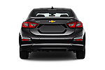 Straight rear view of 2018 Chevrolet Cruze LT-Auto 4 Door Sedan Rear View  stock images