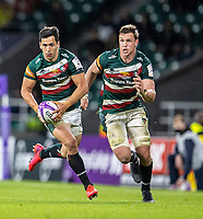 21st May 2021; Twickenham, London, England; European Rugby Challenge Cup Final, Leicester Tigers versus Montpellier; Matias Moroni of Leicester Tigers breaks with the ball