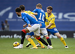 Rangers v St Johnstone…25.04.21   Ibrox.  Scottish Cup<br />David Wotherspoon and Guy Melamed tackle Steven Davis<br />Picture by Graeme Hart.<br />Copyright Perthshire Picture Agency<br />Tel: 01738 623350  Mobile: 07990 594431