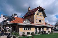 Belgien, Flandern, Tramstation in De Haan