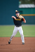 Levi Navinskey (15), from Nortonville, Kansas, while playing for the Pirates during the Baseball Factory Pirate City Christmas Camp & Tournament on December 30, 2017 at Pirate City in Bradenton, Florida.  (Mike Janes/Four Seam Images)
