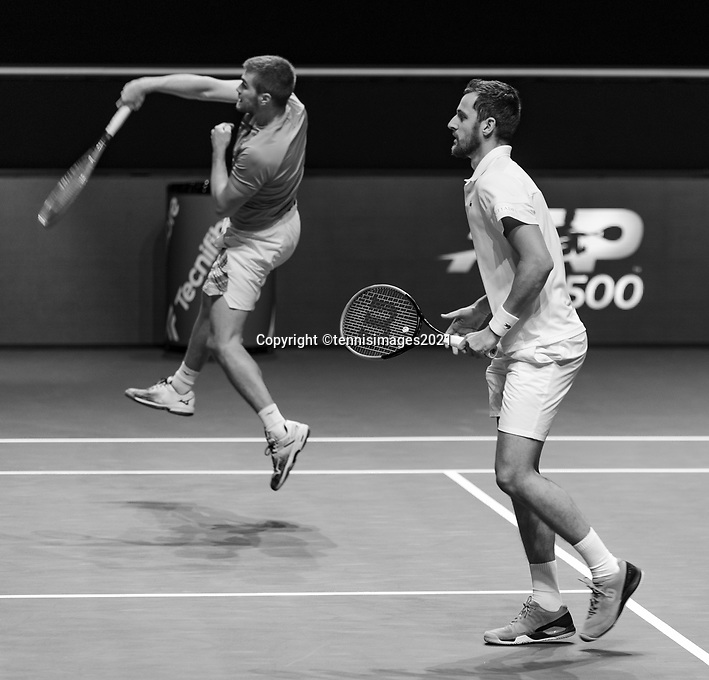 Rotterdam, The Netherlands,7 march  2021, ABNAMRO World Tennis Tournament, Ahoy,  <br /> Doubles final: Nikola Mektic (CRO) / Mate Pavic (CRO). <br /> Photo: www.tennisimages.com/henkkoster