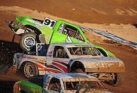 Dec. 10, 2011; Chandler, AZ, USA;  LOORRS pro 2 unlimited driver Nick Tyree (91) gets spun around during round 15 at Firebird International Raceway. Mandatory Credit: Mark J. Rebilas-