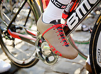 111th Paris-Roubaix 2013..Taylor Phinney's most stylish cycling shoes.