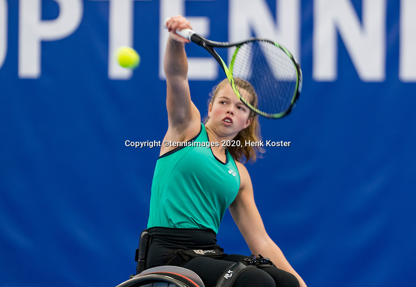 Amstelveen, Netherlands, 12  December, 2020, National Tennis Center, NTC, NKR, National  Junior Indoor Wheelchair Tennis Championships, Women's single:   Félice Lentzef (NED)<br /> Photo: Henk Koster/tennisimages.com