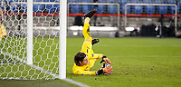 14th November 2020; St.Jakob Park, Basel, Switzerland; Nations League International Football, Switzerland versus Spain;  Goalie Yann Sommer saves the second penalty from Sergio RamSpain