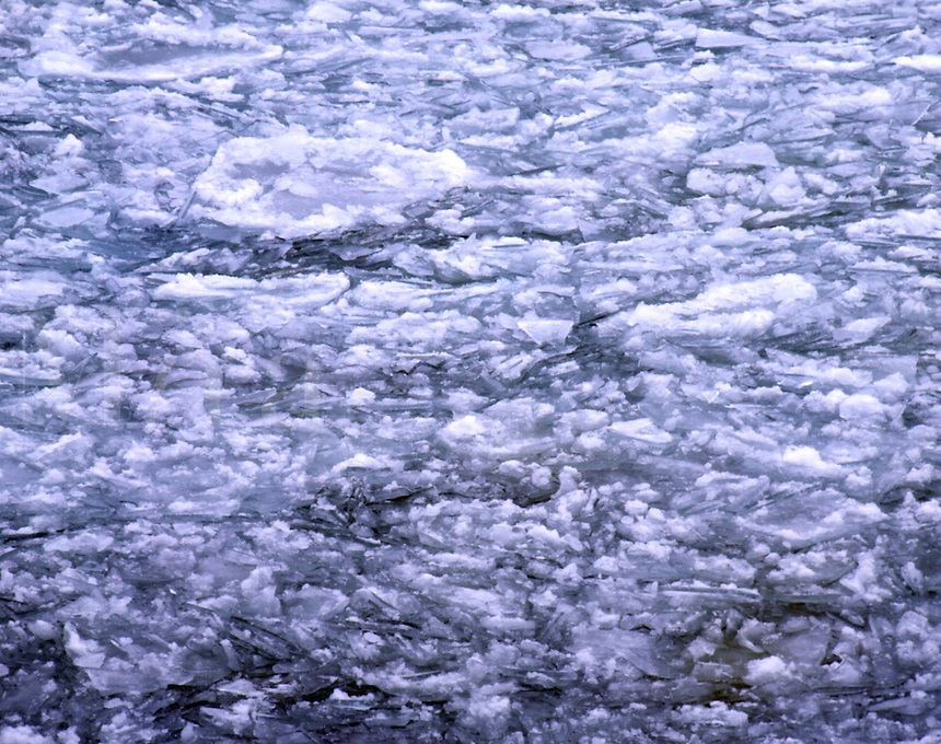 WI45E62 ice floating in Lake Michigan in winter, Whitefish Dunes State Park, WI. Whitefish Dunes State Park, Wisconsin.