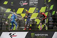 29th August 2021; Silverstone Circuit, Silverstone, Northamptonshire, England; MotoGP British Grand Prix, Race Day; The podium champagne