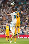 Real Madrid's Carlos Henrique Casemiro and Apoel's Igor de Camargo during UEFA Champions League match between Real Madrid and Apoel at Santiago Bernabeu Stadium in Madrid, Spain September 13, 2017. (ALTERPHOTOS/Borja B.Hojas)