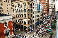 Protestors peacefully march through downtown, the South Side, through the Hill District, and back downtown on Thursday June 4, 2020 in Pittsburgh, Pennsylvania. (Photo by Jared Wickerham/Pittsburgh City Paper)