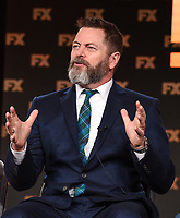 "PASADENA, CA - JANUARY 9: Cast member Nick Offerman attends the panel for ""Devs"" during the FX Networks presentation at the 2020 TCA Winter Press Tour at the Langham Huntington on January 9, 2020 in Pasadena, California. (Photo by Frank Micelotta/FX Networks/PictureGroup)"