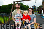 Jonathan, Indie and Issac Silles and Aoife Griffin enjoying the Ardfert playground on Monday.