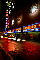 Radio City Music Hall in New York City at night