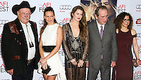 HOLLYWOOD, LOS ANGELES, CA, USA - NOVEMBER 11: Barry Corbin, Hilary Swank, Grace Gummer, Tommy Lee Jones, Dawn Laurel-Jones arrive at the AFI FEST 2014 - 'The Homesman' Gala Screening held at the Dolby Theatre on November 11, 2014 in Hollywood, Los Angeles, California, United States. (Photo by Xavier Collin/Celebrity Monitor)