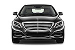 Car photography straight front view of a 2017 Mercedes Benz S-Class S550-PLUG-IN-HYBRID 4 Door Sedan Front View