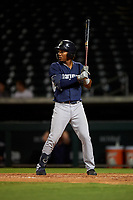 AZL Padres 1 Yordi Francisco (5) at bat during an Arizona League game against the AZL Cubs 1 on July 5, 2019 at Sloan Park in Mesa, Arizona. The AZL Cubs 1 defeated the AZL Padres 1 9-3. (Zachary Lucy/Four Seam Images)