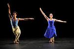 DUETS....Choregraphie : CUNNINGHAM Merce..Mise en scene : CUNNINGHAM Merce..Compositeur : CAGE John..Decor : LANCASTER Mark..Lumiere : LANCASTER Mark SHALLENBERG Christine..Avec :..NELSON Krista..RIENER Silas..Lieu : Theatre de la Ville..Ville : Paris..Le : 20 12 2011 © Laurent Paillier / photosdedanse.com<br /> All rights reserved