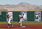 February 24, 2012:    Utah Valley Wolverines shortstop Kai Hatch turned an unassisted triple play against the Nevada Wolf Pack during  their NCAA baseball game played at Peccole Park on Friday afternoon in Reno, Nevada.
