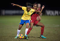 Lakewood Ranch, FL - December 11, 2017: The U20 USWNT lost to Brazil, 2-0, during the Nike International Friendlies at Premier Sports Campus.