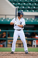 Detroit Tigers Dylan Rosa (61) at bat during a Florida Instructional League game against the Pittsburgh Pirates on October 6, 2018 at Joker Marchant Stadium in Lakeland, Florida.  (Mike Janes/Four Seam Images)