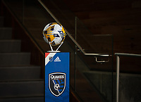 SAN JOSE, CA - SEPTEMBER 4: Game ball before a game between Colorado Rapids and San Jose Earthquakes at PayPal Park on September 4, 2021 in San Jose, California.