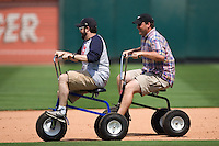 trike race 1160 (Andrew Woolley).jpg. Pacific Coast League Oklahoma City RedHawks against the Round Rock Express at Dell Diamond on May 10th 2009 in Round Rock, Texas. Photo by Andrew Woolley.