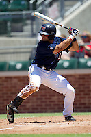 Outfielder Zach Kirksey #11 of the Ole Miss Rebels at bat during the NCAA Regional baseball game against the Texas Christian University Horned Frogs on June 1, 2012 at Blue Bell Park in College Station, Texas. Ole Miss defeated TCU 6-2. (Andrew Woolley/Four Seam Images).
