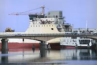 - Visentin shipyards at Porto Viro (Ro), in the delta of  Po river....- cantieri navali Visentin a Porto Viro (Ro), nel delta del fiume Po