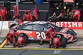 CONCORD, NORTH CAROLINA - MAY 28: Erik Jones, driver of the #20 Craftsman Toyota, pits during the NASCAR Cup Series Alsco Uniforms 500 at Charlotte Motor Speedway on May 28, 2020 in Concord, North Carolina. (Photo by Jared C. Tilton/Getty Images)