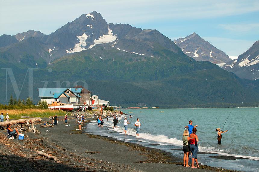 Silver Salmon fishing in Resurrection Bay, Lowell Point, near Seward, Alaska