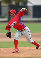 March 25, 2010:  Pitcher Matt Way of the Philadelphia Phillies organization during a Spring Training game at the Carpenter Complex in Clearwater, FL.  Photo By Mike Janes/Four Seam Images