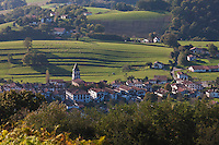 Europe/France/Aquitaine/64/Pyrénées-Atlantiques/Pays-Basque/Ainhoa: le village - Plus Beaux Villages de France