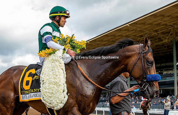 MAR 07: Combatant with Joel Rosario wins the Santa Anita Handicap at Santa Anita Park in Arcadia, California on March 7, 2020. Evers/Eclipse Sportswire/CSM