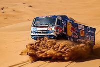 4th January 2021; Dakar Rally stage 2;  501 Shibalov Anton (rus), Nikitin Dmitrii (rus), Tatarinov Ivan (rus), Kamaz, Kamaz - Master, Camion, Truck, action during the 2nd stage of the Dakar 2021 between Bisha and Wadi Al Dawasir, in Saudi Arabia on January 4, 2021